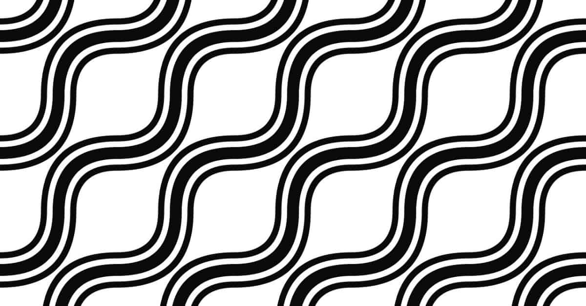 Black wavy lines in diagonal pattern on white background