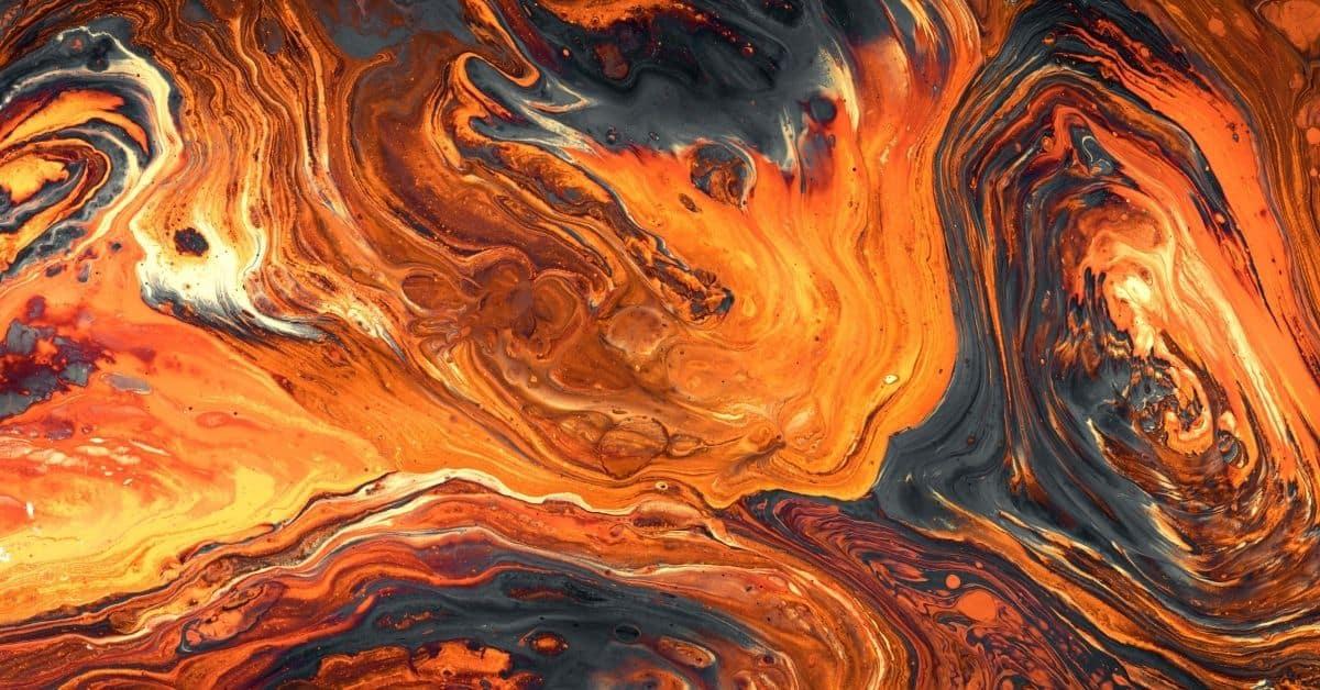 Swirls of gold on a dark background